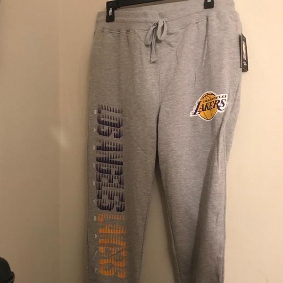 2a1dee334c8 NBA Los Angeles Lakers Joggers Sweatpants Gray